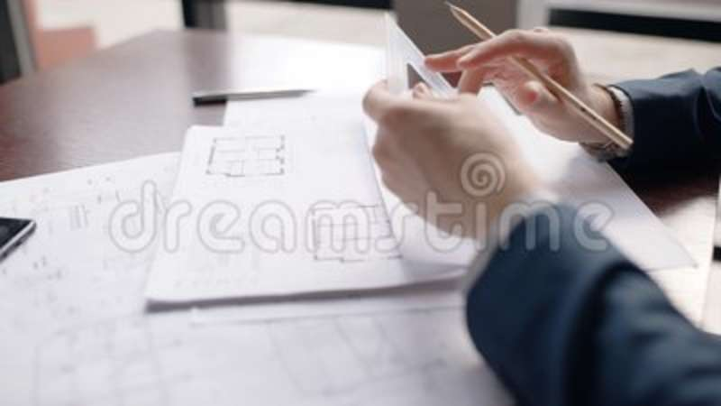 Close up hands of male architect making hause blueprint in office close up hands of male architect making hause blueprint in office stock footage video of paper adult 114616174 malvernweather Gallery