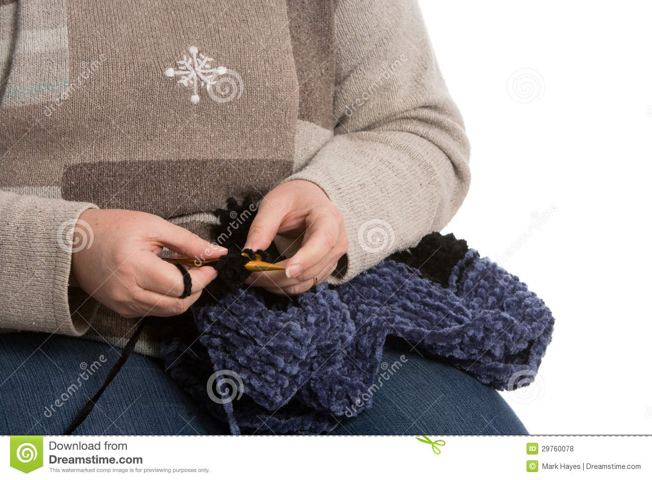 Knitting With Hands Only : Knitting royalty free stock photos image