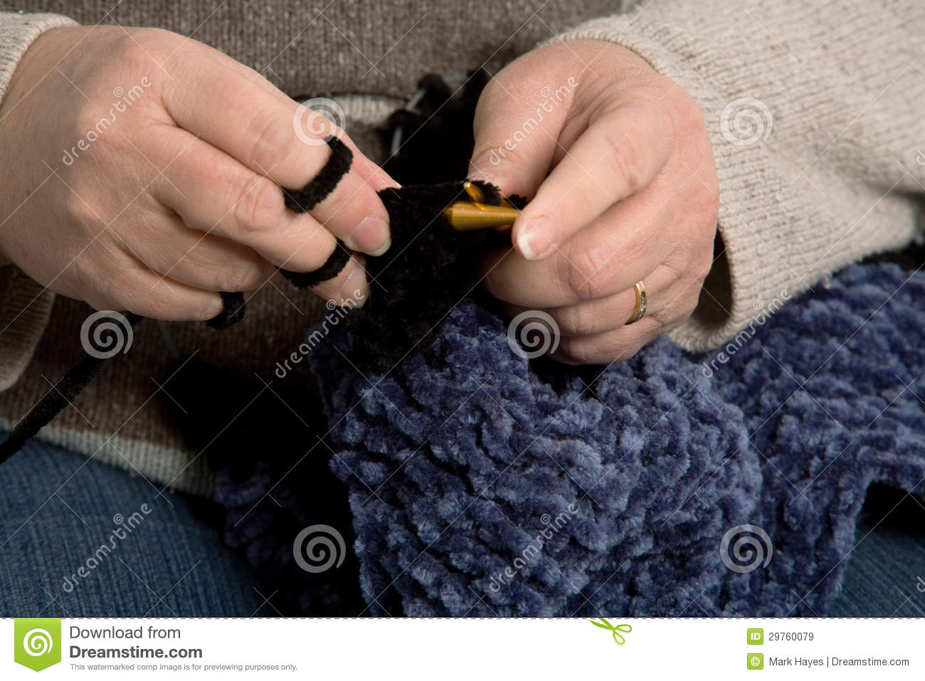 Knitting With Hands Only : Knitting royalty free stock images image