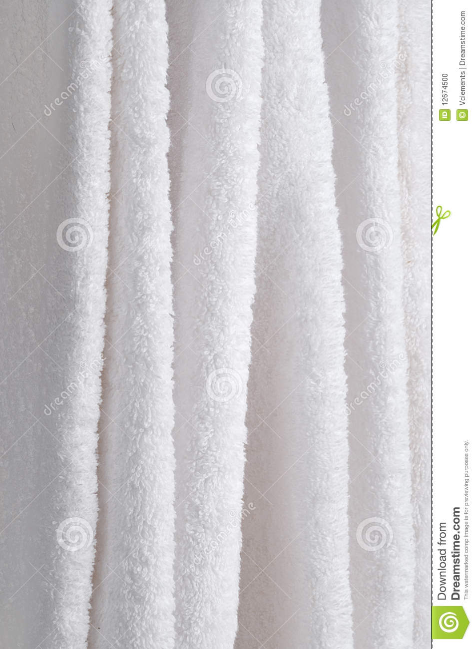 Close Up Of Hanging White Towels Stock Photo - Image: 12674500