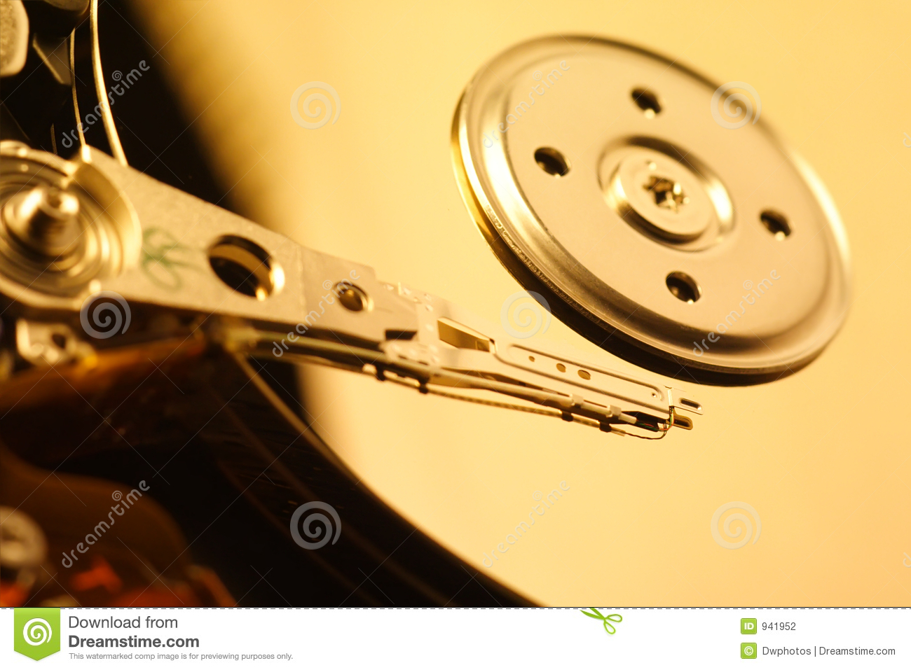 Download Close-Up Of Harddrive/Harddisc Stock Photo - Image of computer, gear: 941952