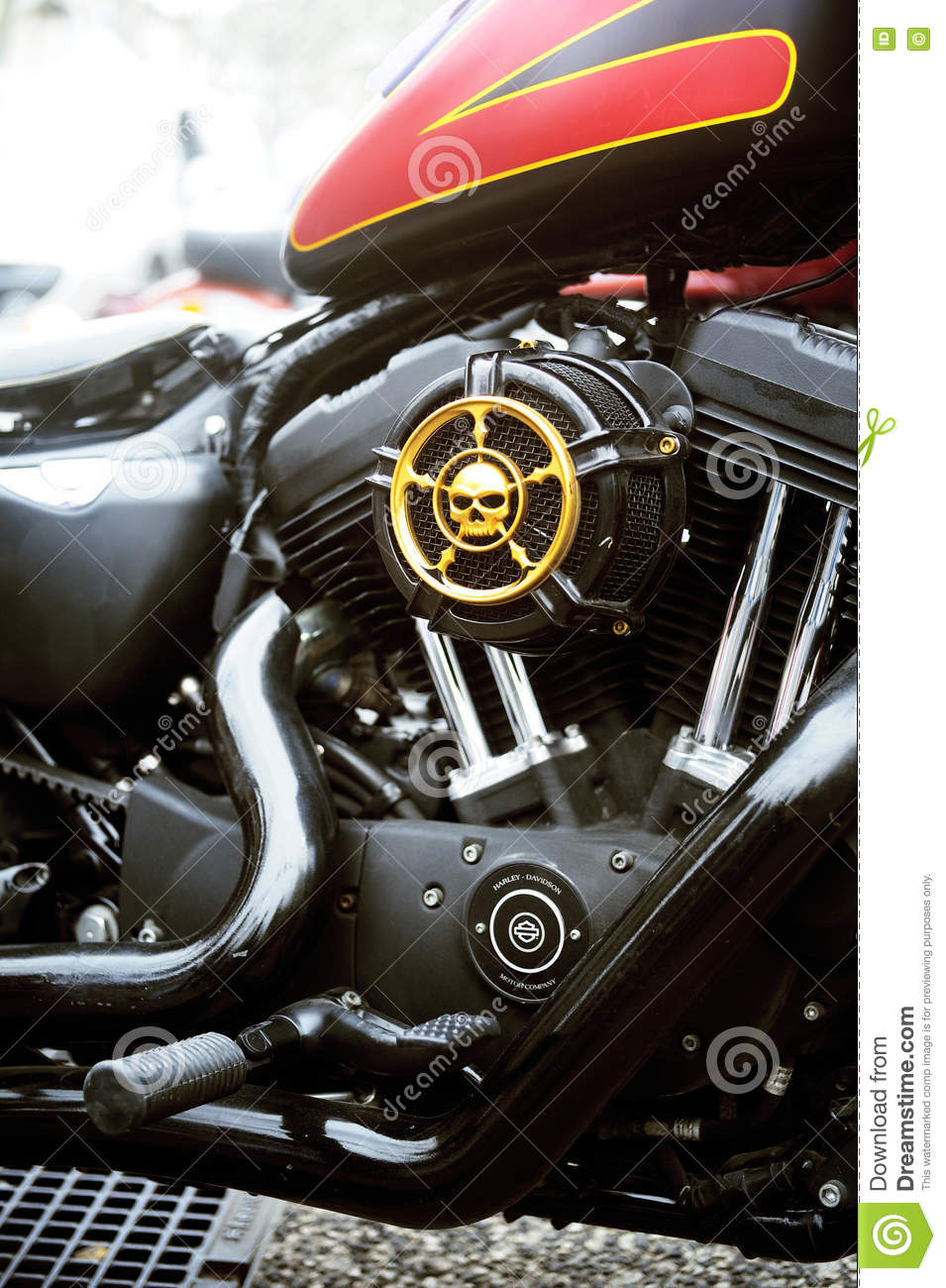 close up on a harley davidson with custom art editorial image image of motorcycle custom. Black Bedroom Furniture Sets. Home Design Ideas