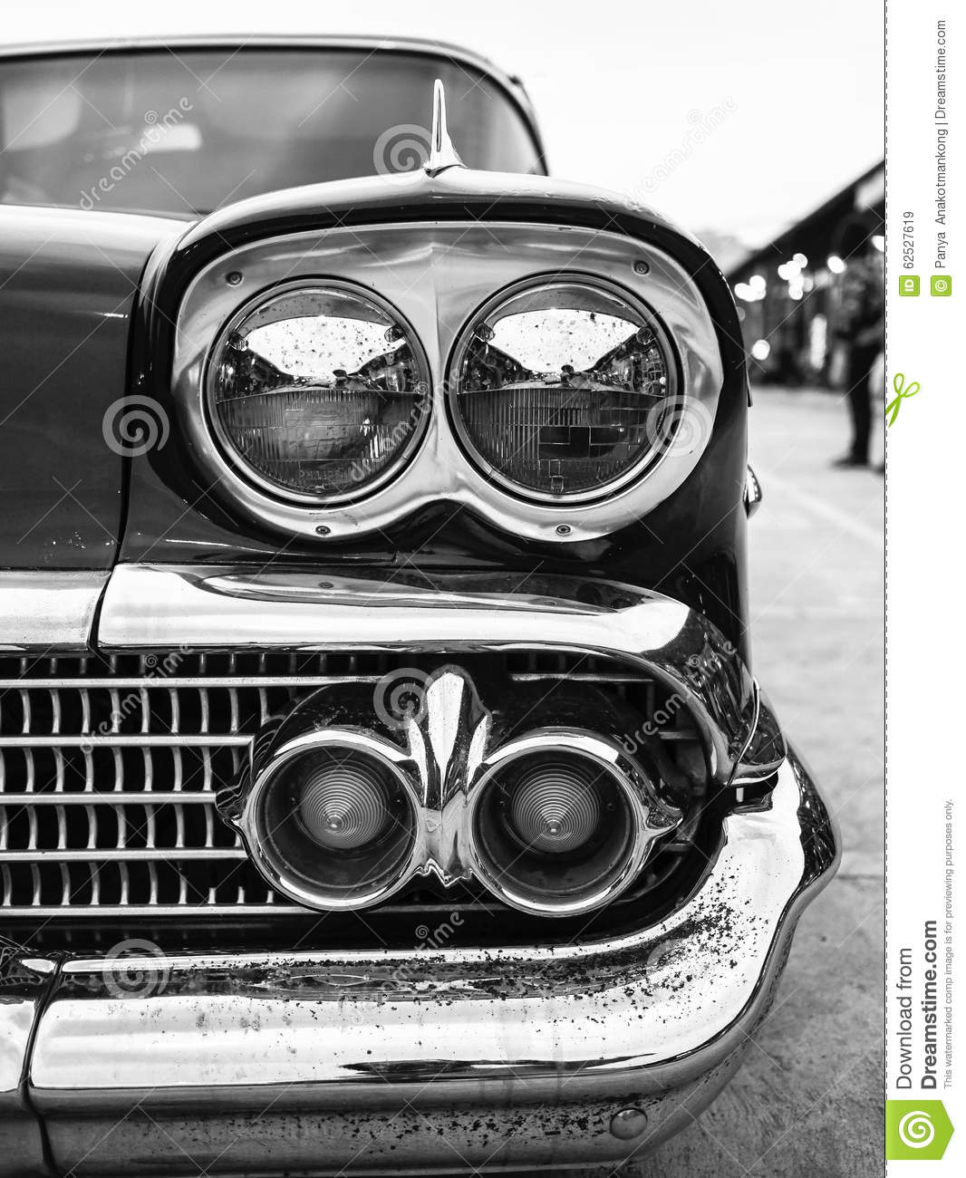 Close-up Of Headlight And Turn Signal Classic Car, Have ...