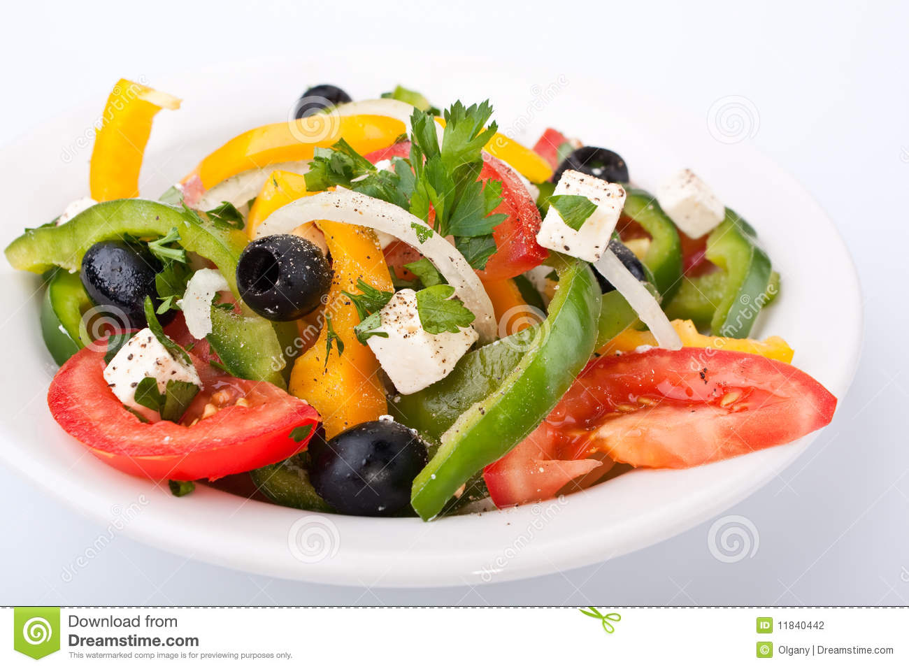 Close up healthy greek salad stock photo image 11840442 - Healthy greek recipes for dinner mediterranean savour ...