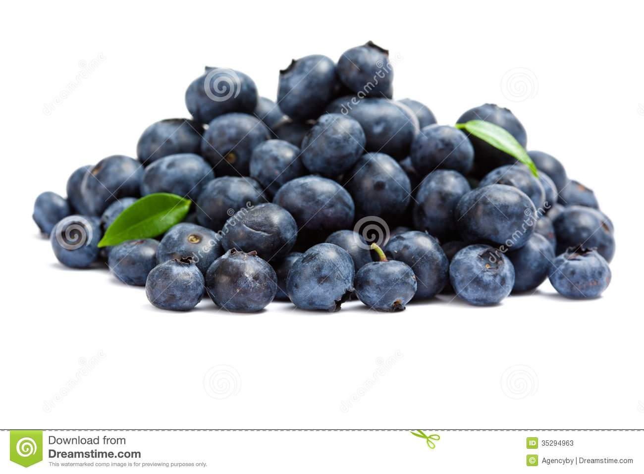 Close up of heap of bilberry