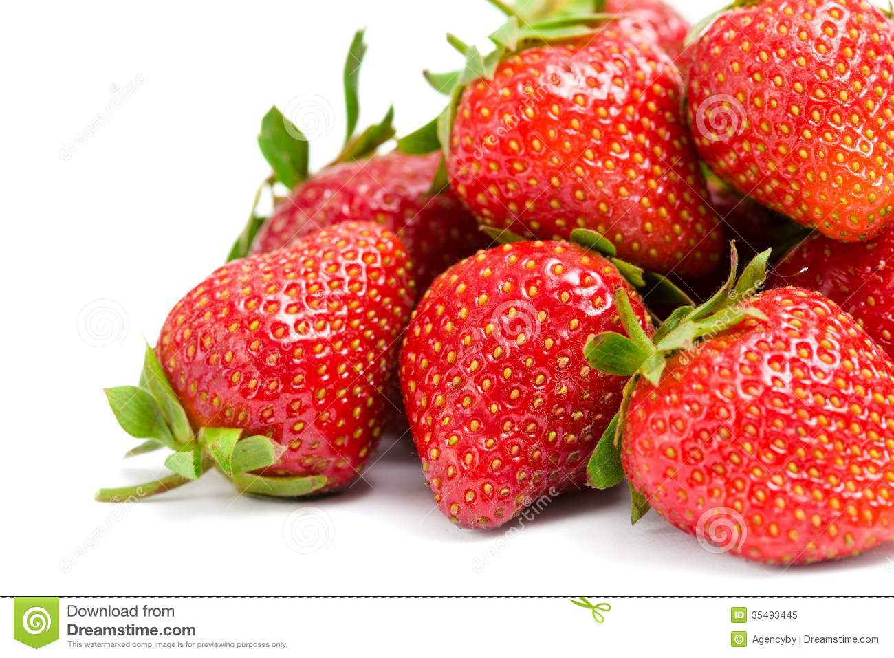 Close up of heap of strawberry