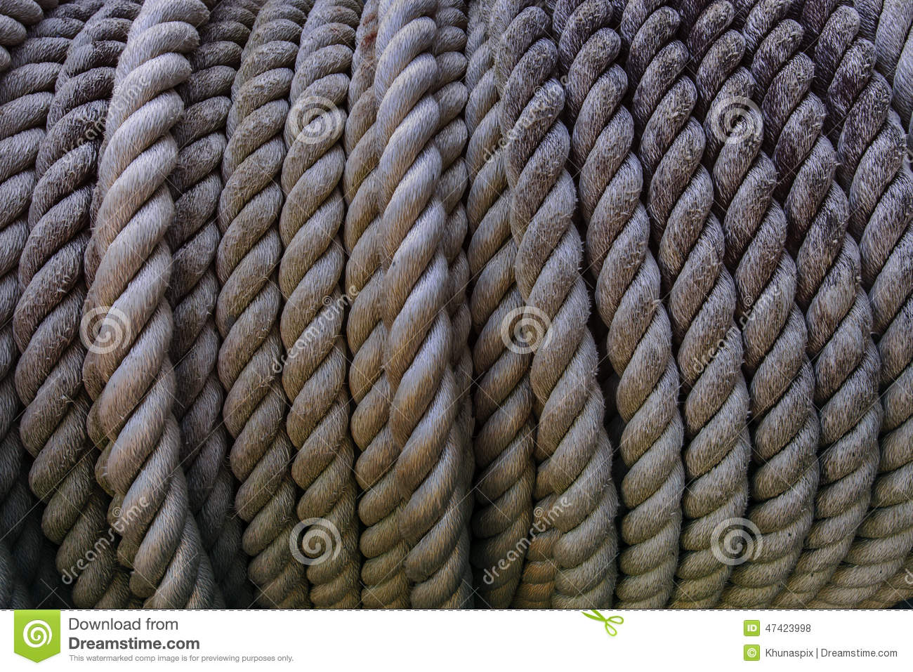 Close Up High Depth Of Rough Rope Texture Use For Industrial Obj