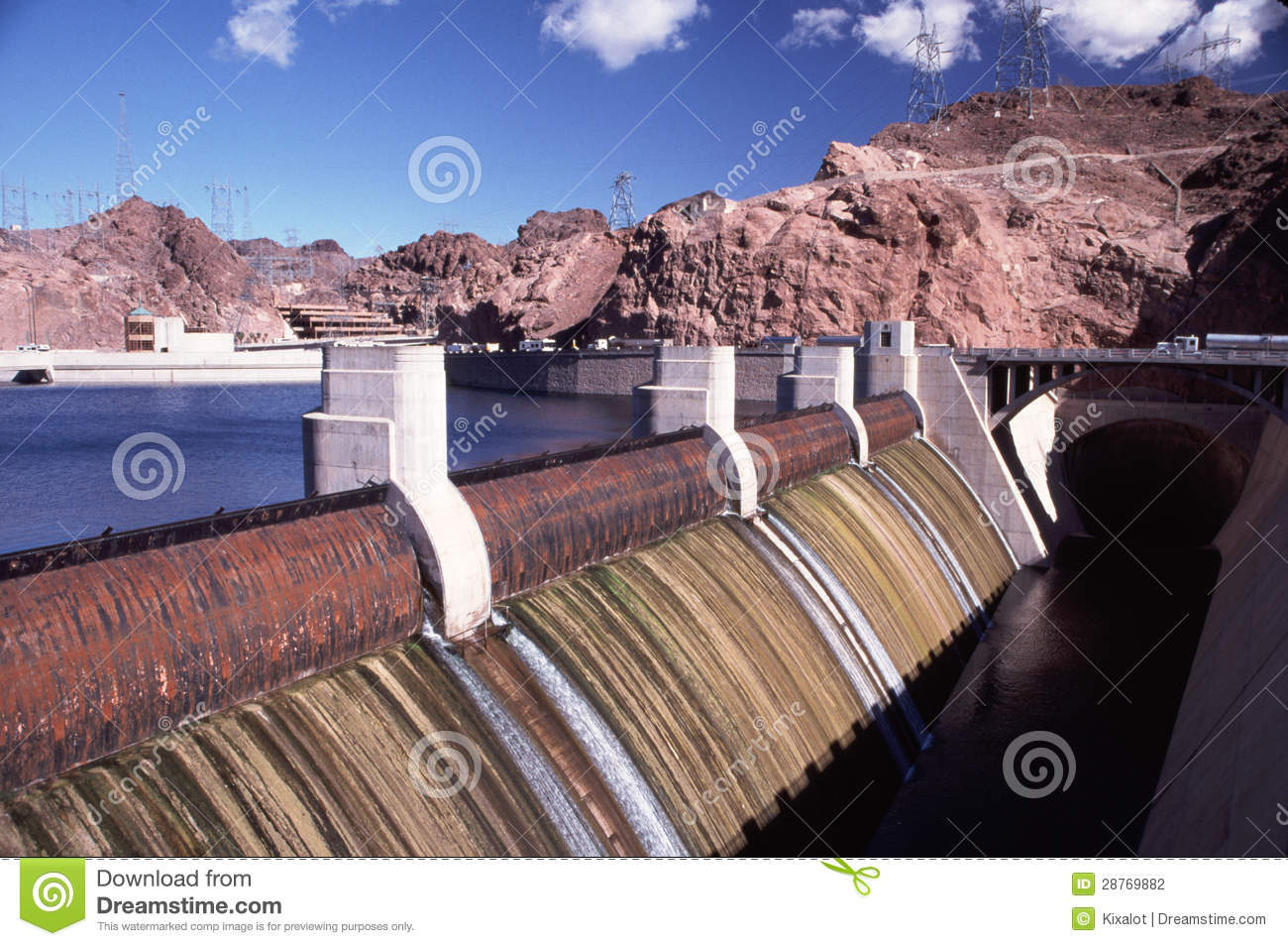 Close Up Of Hoover Dam Spillway Stock Photo - Image of spillway
