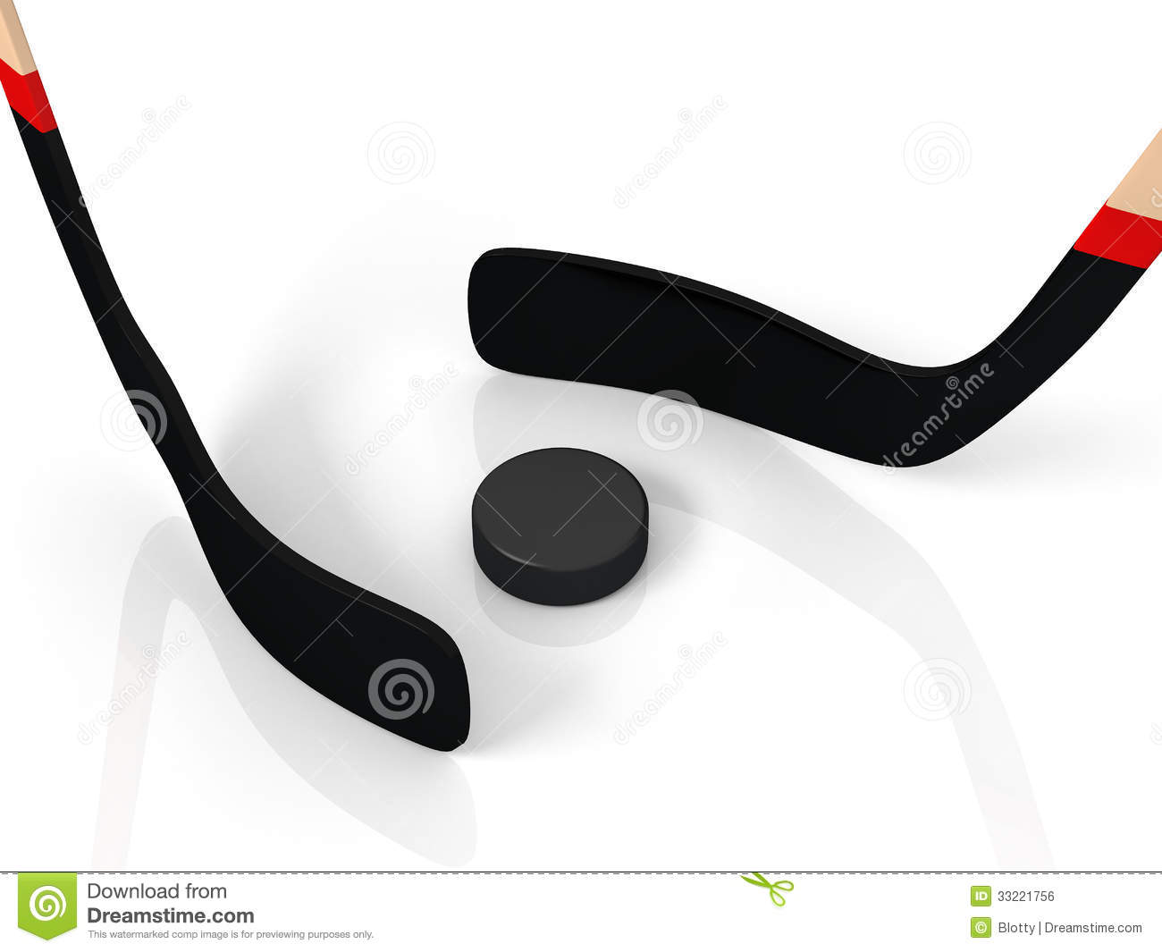 close up of an ice hockey stick and puck royalty free stock image