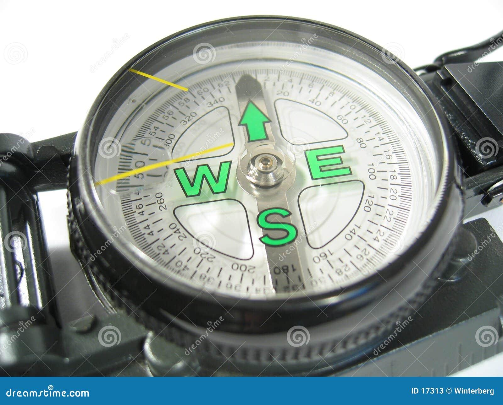 Close-up III van het kompas
