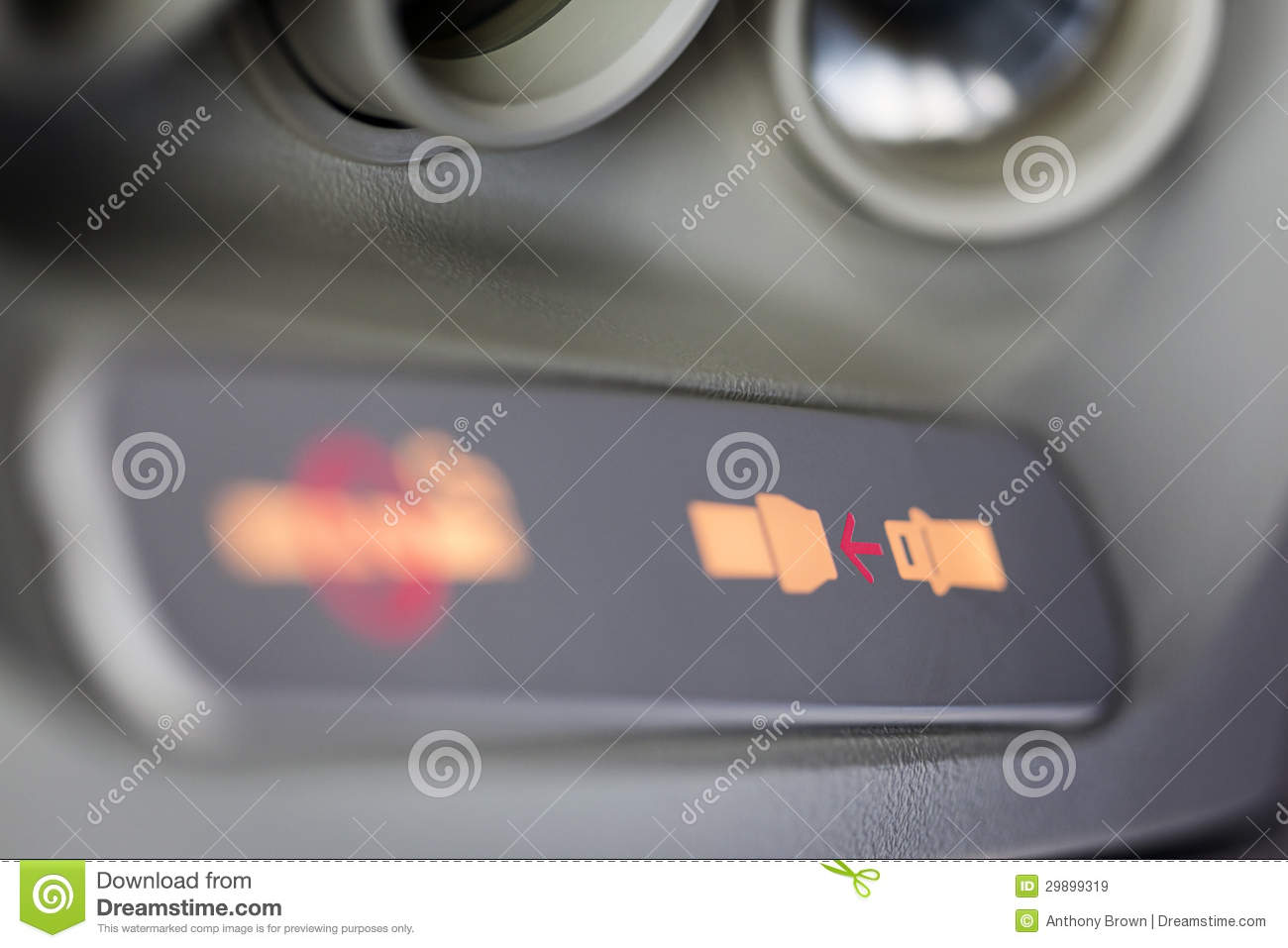 fasten seatbelt sign royalty free stock images