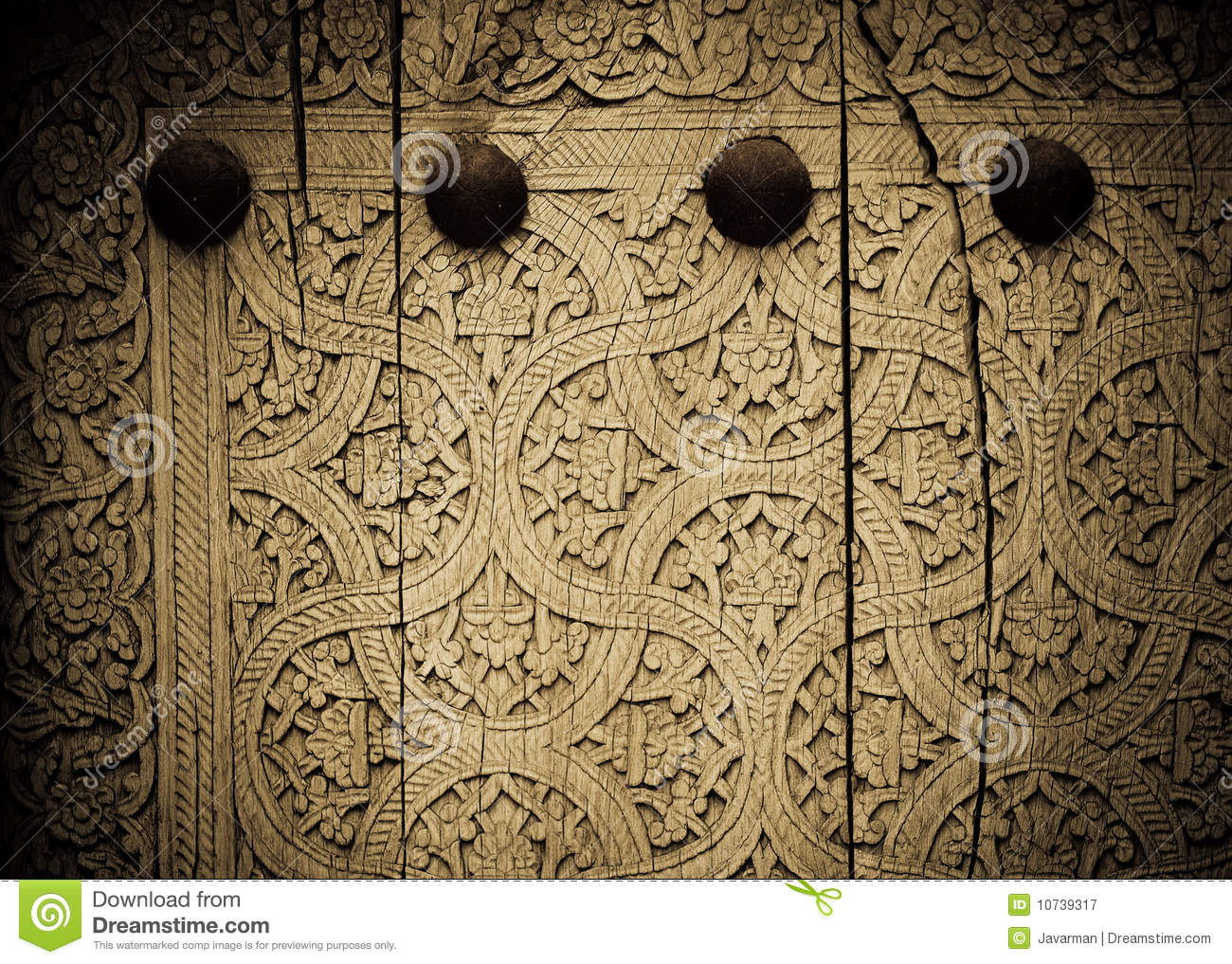 Close up image of ancient doors royalty free stock photography image