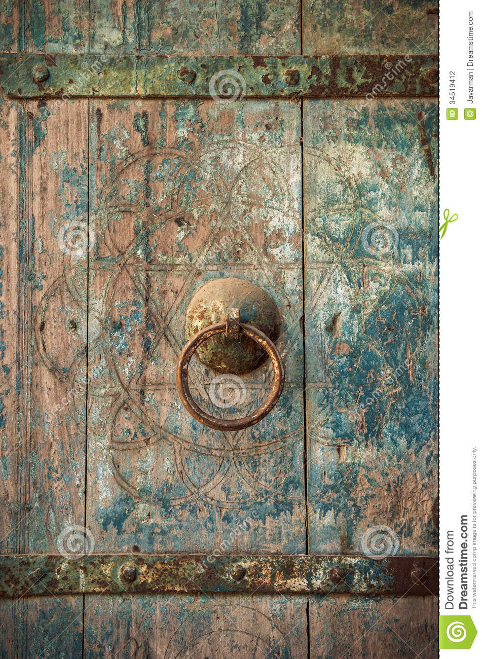 Close Up Image Of Ancient Doors Stock Photography Image