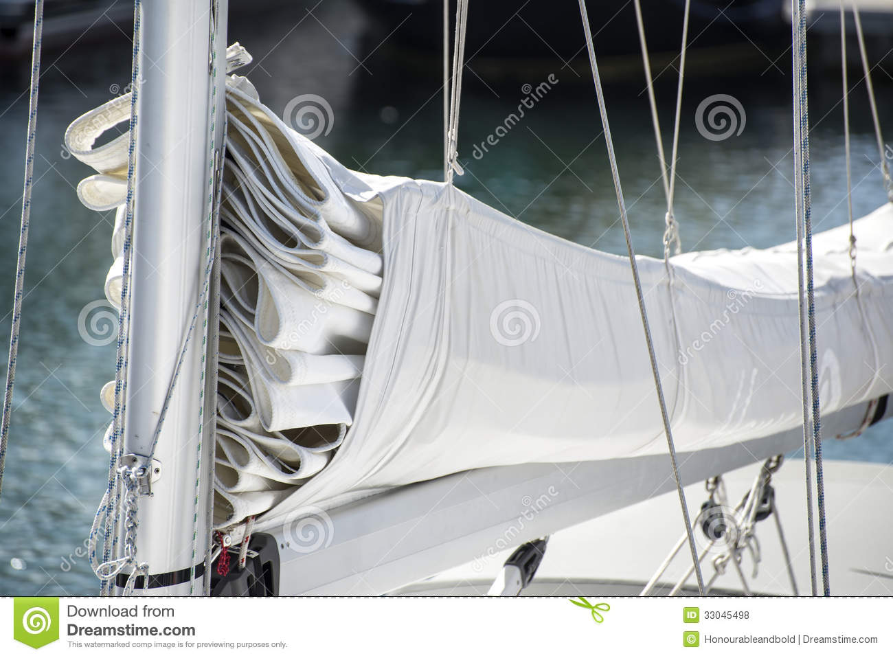 Close Up Image Of Sail And Mast Pulley Systm On Yacht Sailboat Royalty Free Stock Photos - Image ...