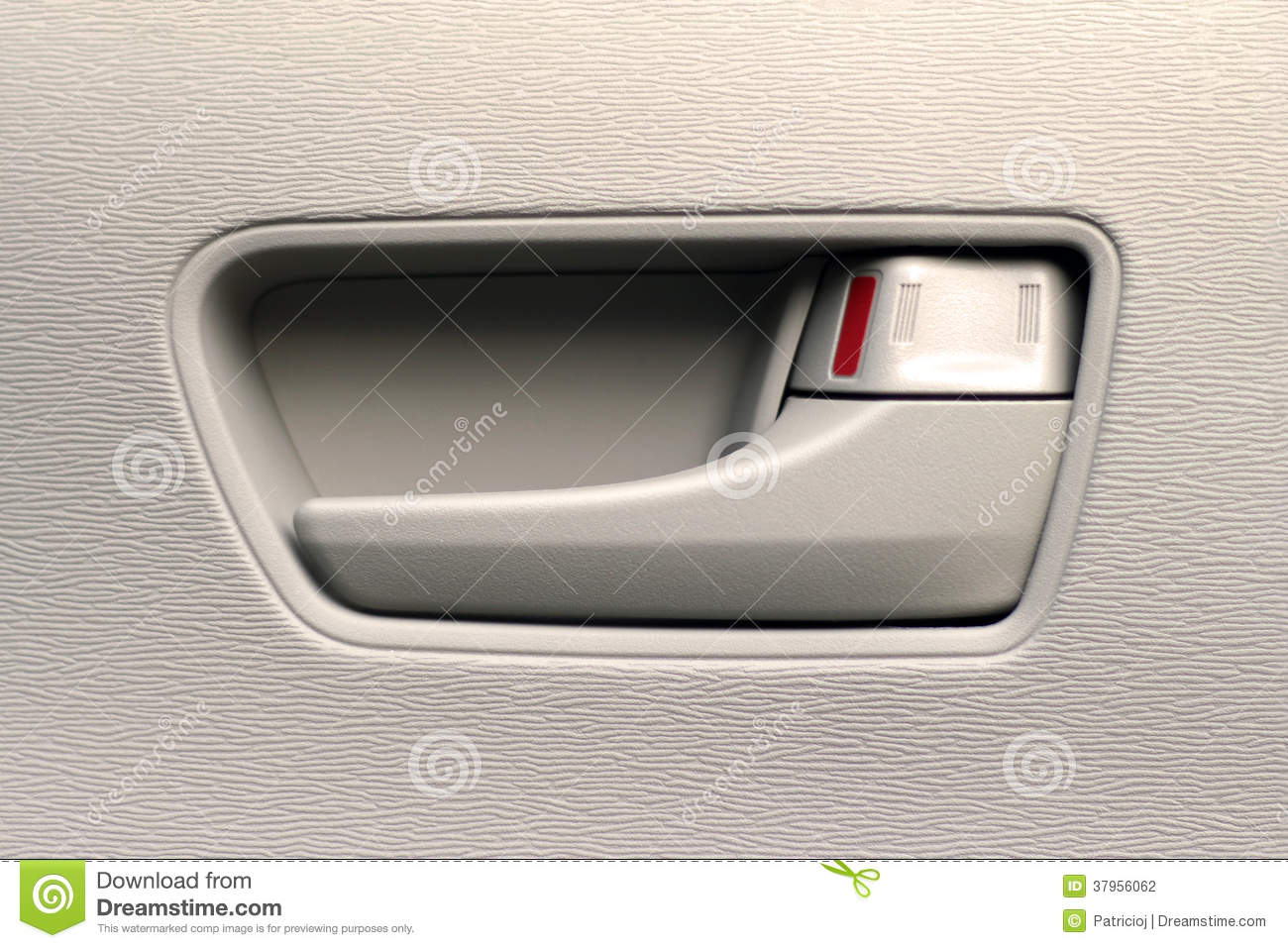 close up of an interior car door handle stock photo image of child macro 37956062. Black Bedroom Furniture Sets. Home Design Ideas