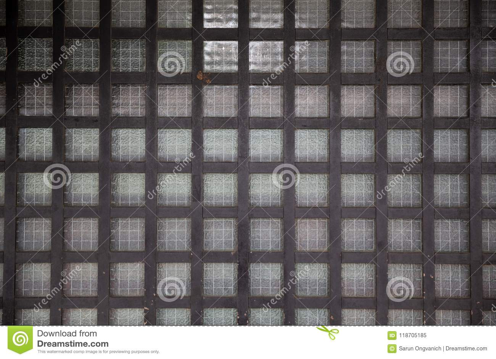 Japanese old wooden grid window or door. & Close Up Of Japanese Old Wooden Grid Window Or Door. Stock Image ...