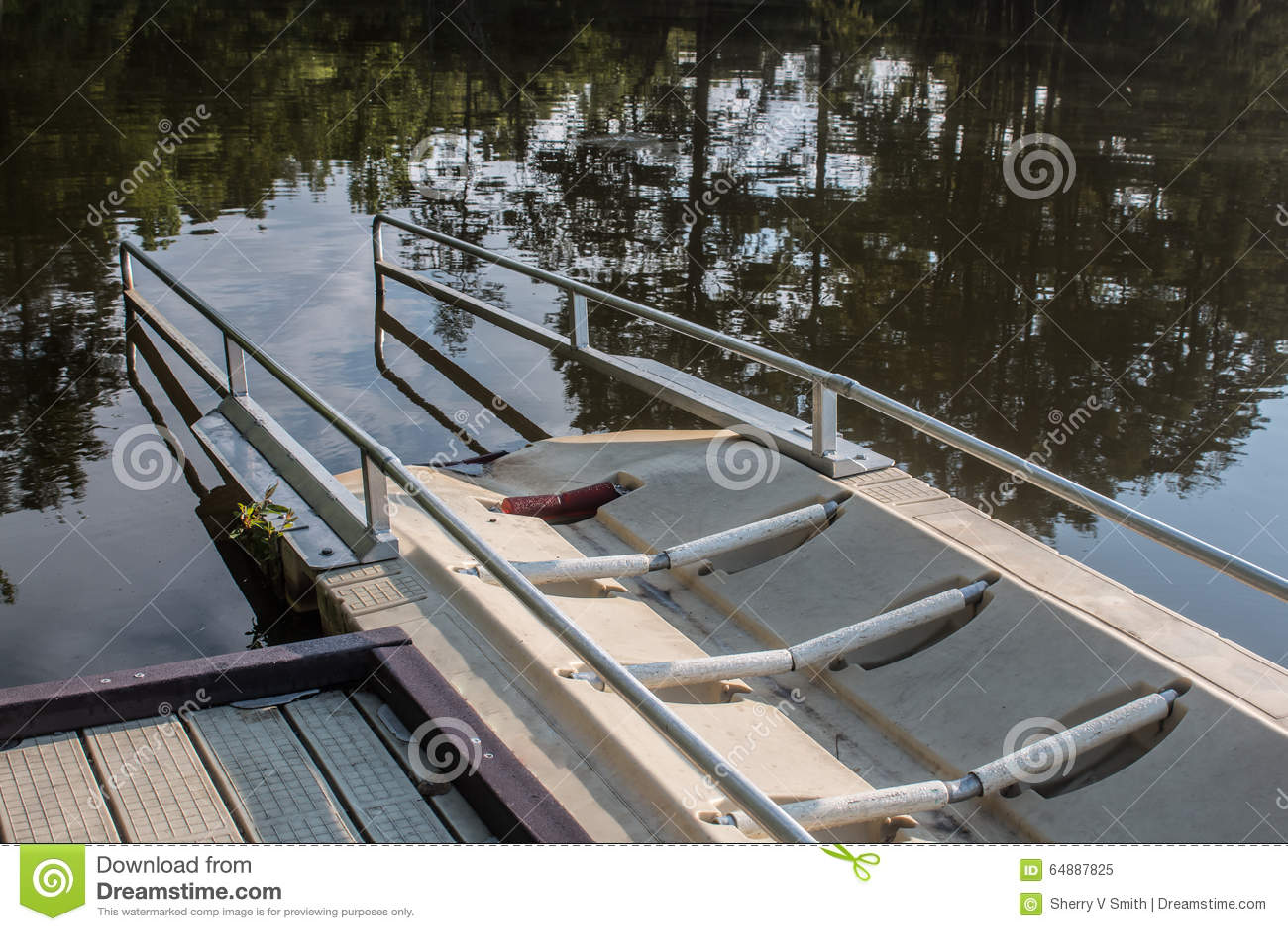 Close-Up Of Kayak Launch Ramp At Stumpy Lake Stock Photo - Image: 64887825