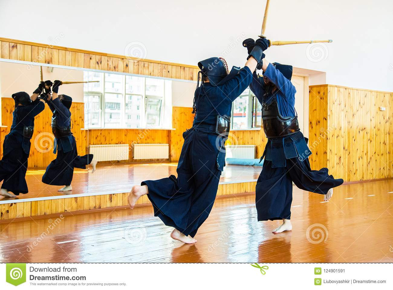 Japanese Martial Art Of Sword Fighting  Sport  Editorial Photo