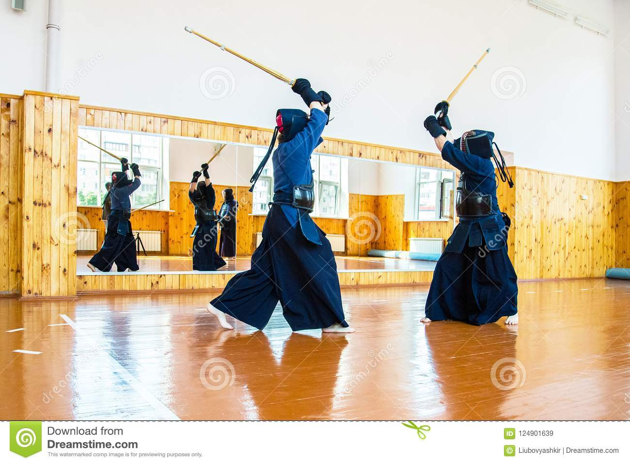 Japanese Martial Art Of Sword Fighting  Sport  Editorial Stock Image