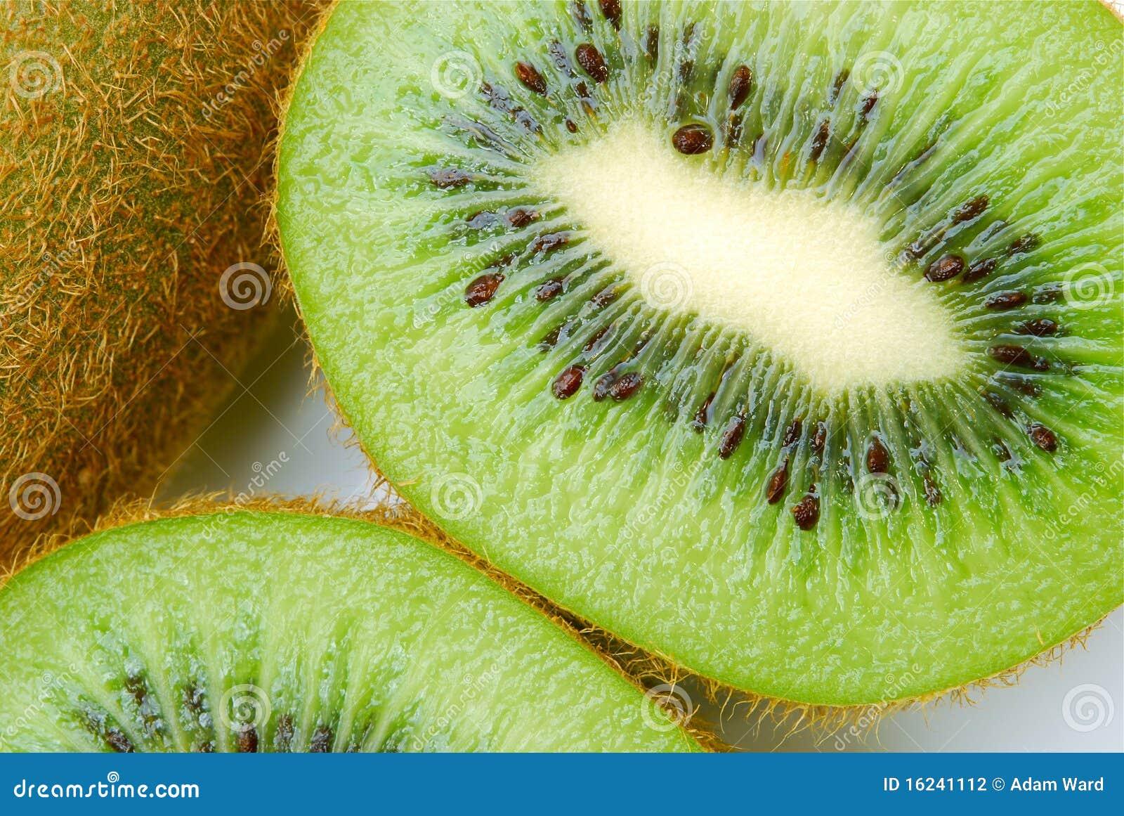Kiwi fruit cut in half close up - Close Up Of Kiwi Fruit Stock Photography Image 16241112