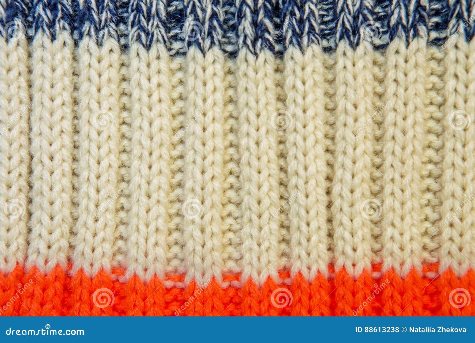 7d82e85a7 Close Up On Knit Woolen Fur Texture. Stock Photo - Image of handmade ...