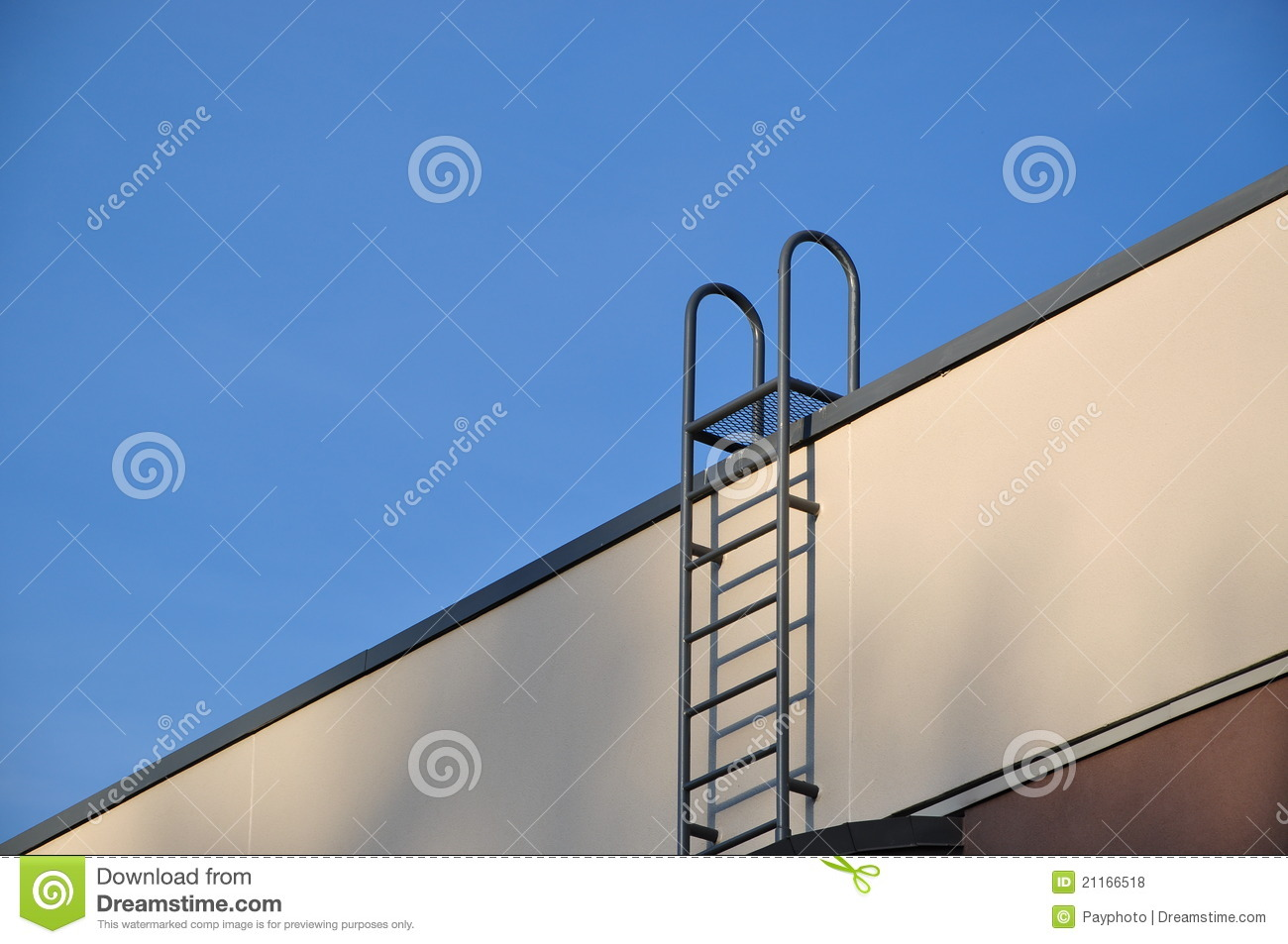 Close Up Ladder To Roof Royalty Free Stock Photos Image
