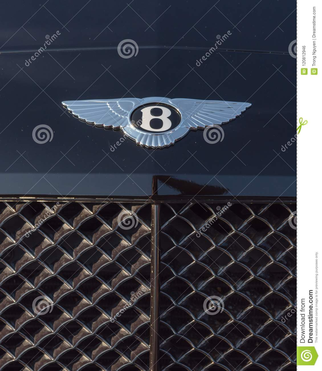 Close Up Logo Of Bentley Luxury Car Brand Editorial Photo Image Of