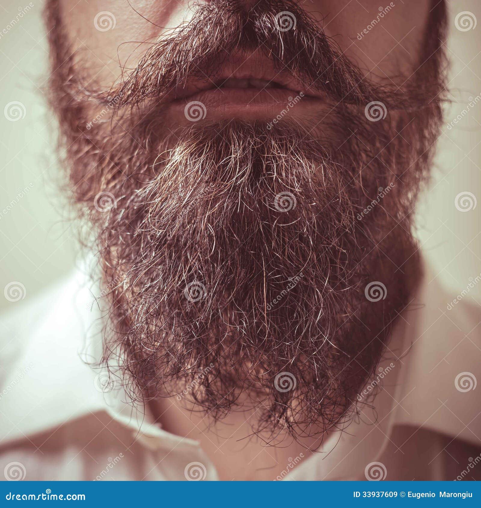 Волосы на бороде очень жесткие