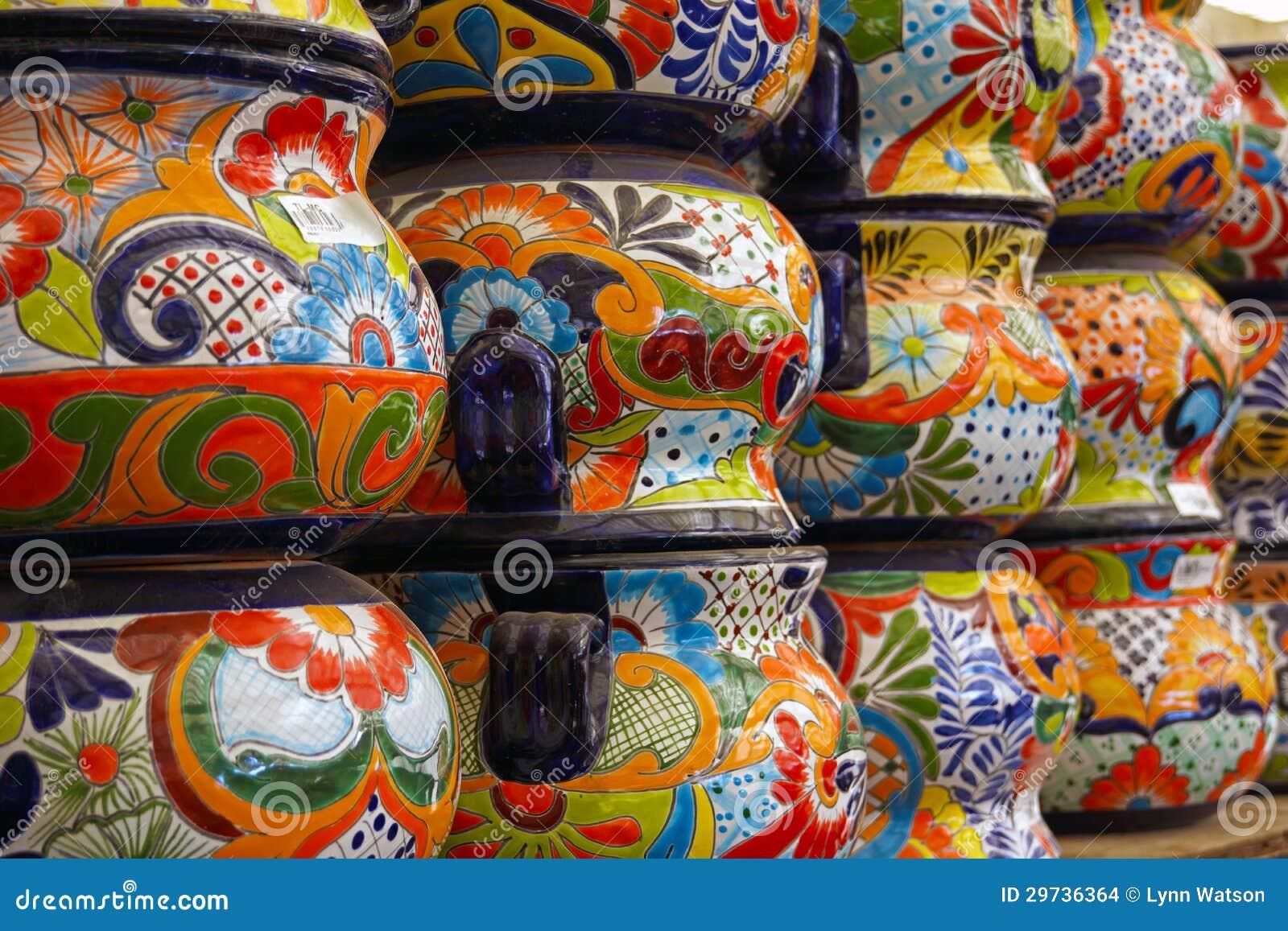 Colorful Mexican Talavera Pots