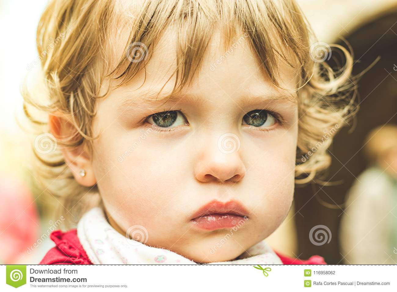 Close-up of a lovely child with beautiful eyes