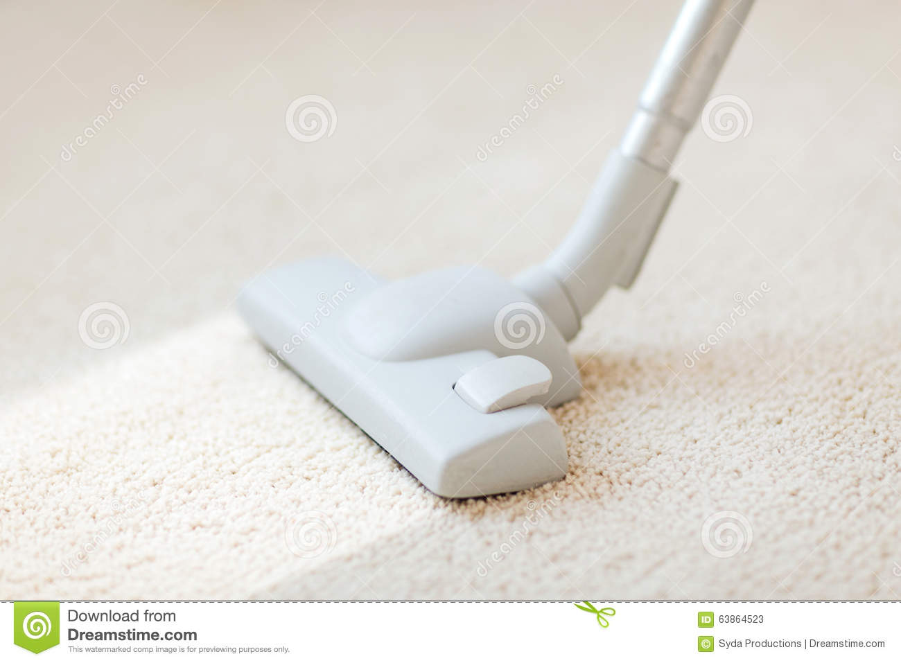 Close Up Of Male Hoovering Carpet Stock Photo Image