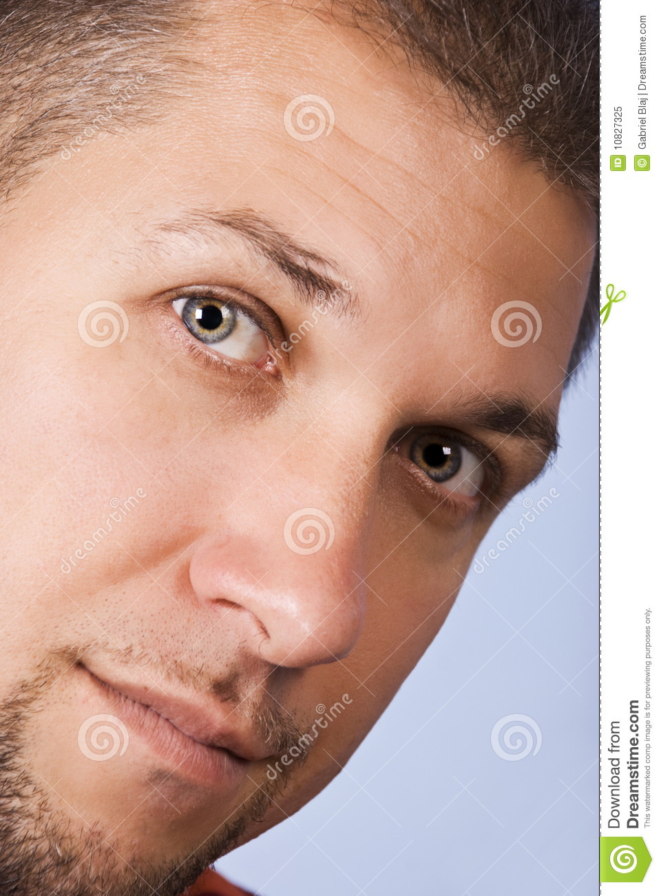 Download Close up man face stock image. Image of eyeball, profile - 10827325