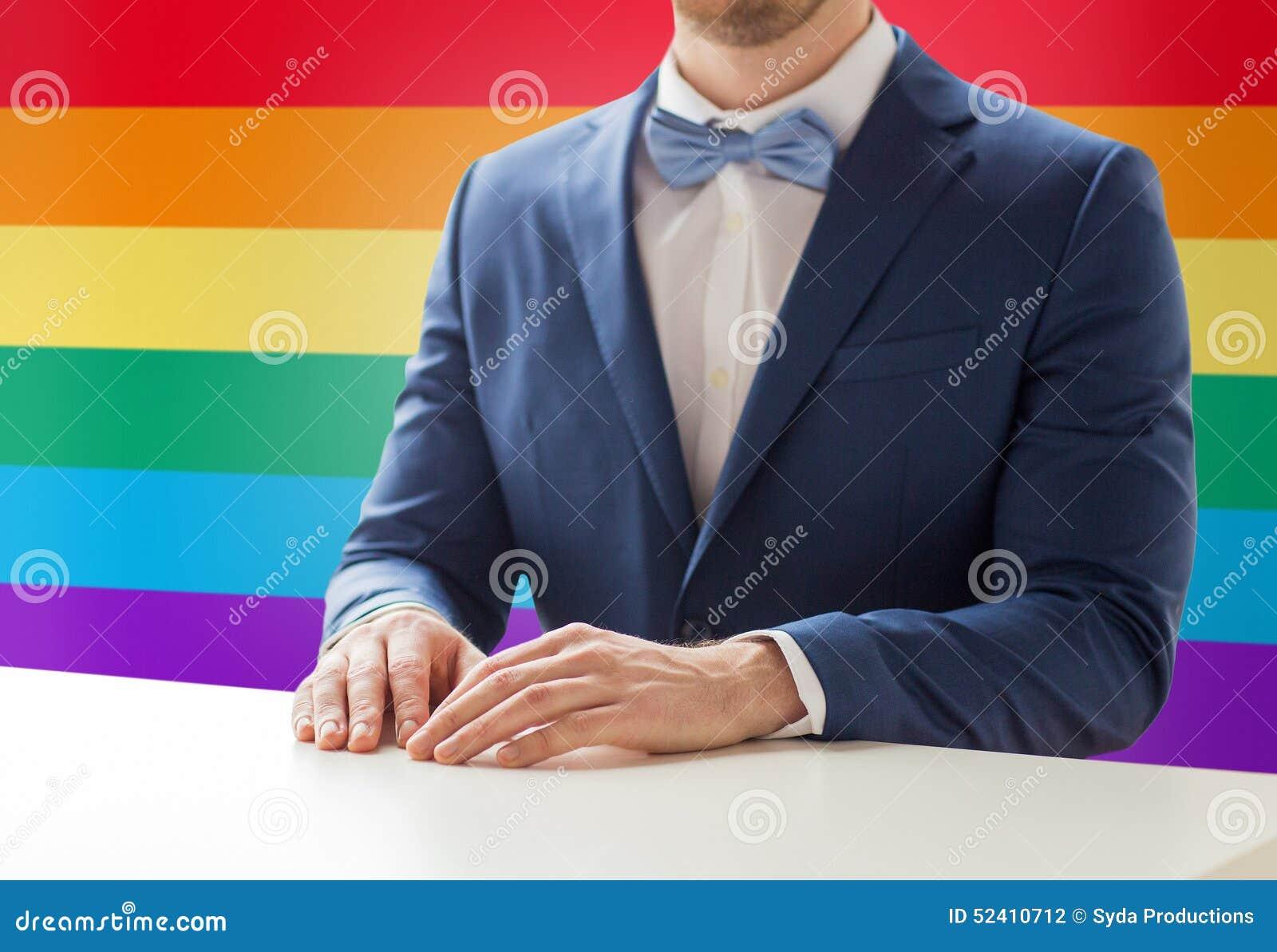 Gay men in suit tie having sex