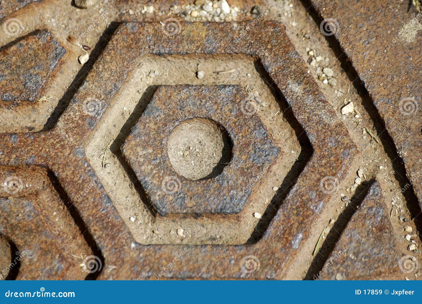 Close-up manhole cover