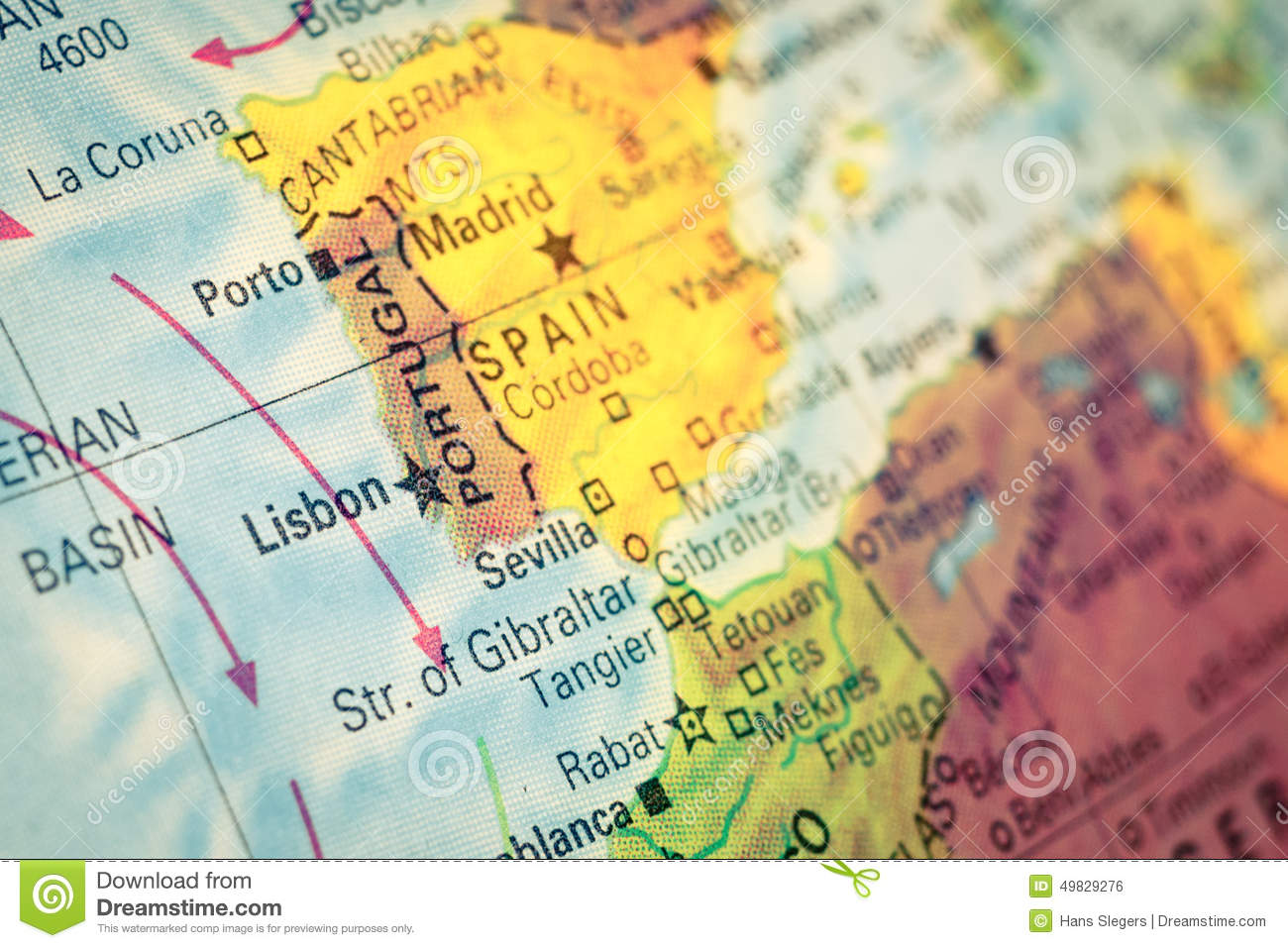 Portugal Map Stock Photos Download Images - Portugal globe map