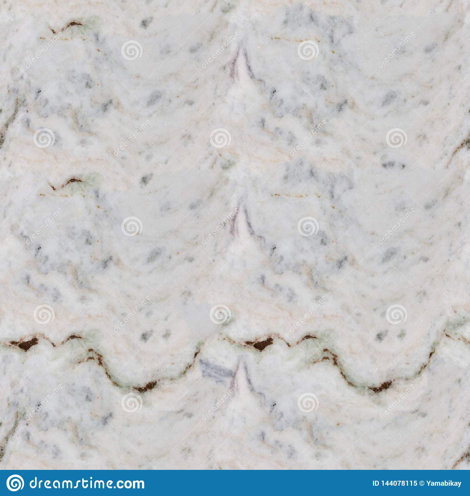 Close up of marble texture pattern. Seamless square background, tile ready.