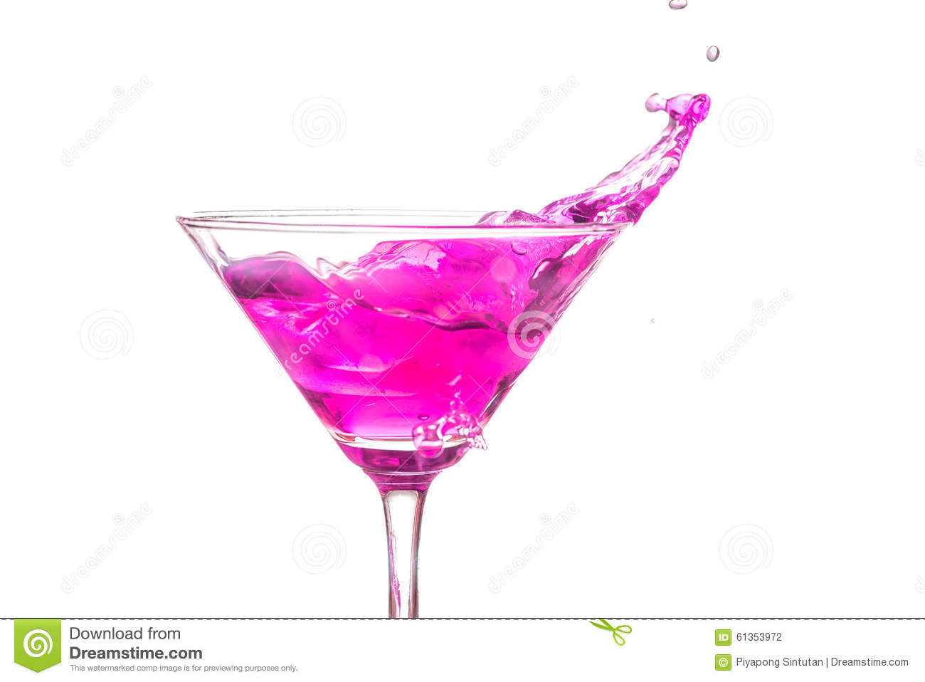 pink drink wallpapers: Close Up Martini Glass With Pink Cocktail Stock Photo