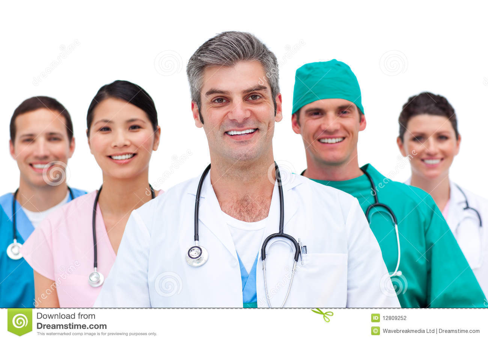 Close-up of a medical team