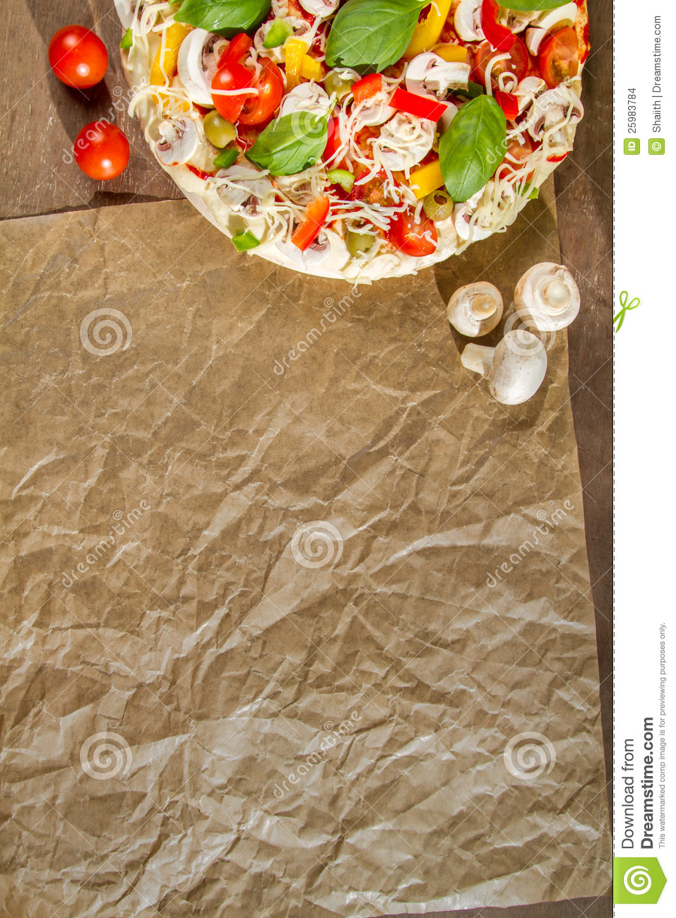 Close Up Of The Menu With Pizza Stock Images Image 25983784