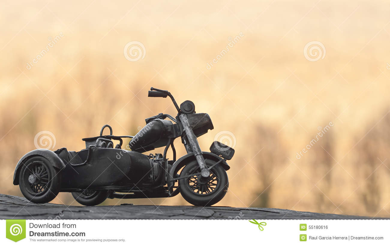 Close Up Of Miniature Toy Motorcycle On Natural Background Stock Photo Image Of Retro Background 55180616