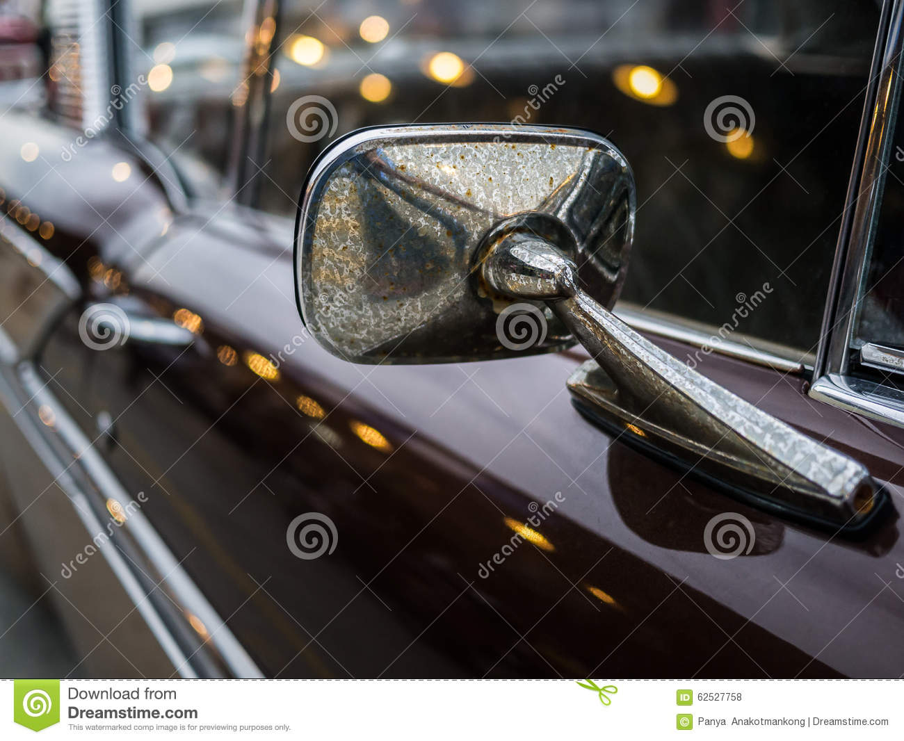 close up mirror sideview of classic car royalty free stock photo 59807049. Black Bedroom Furniture Sets. Home Design Ideas