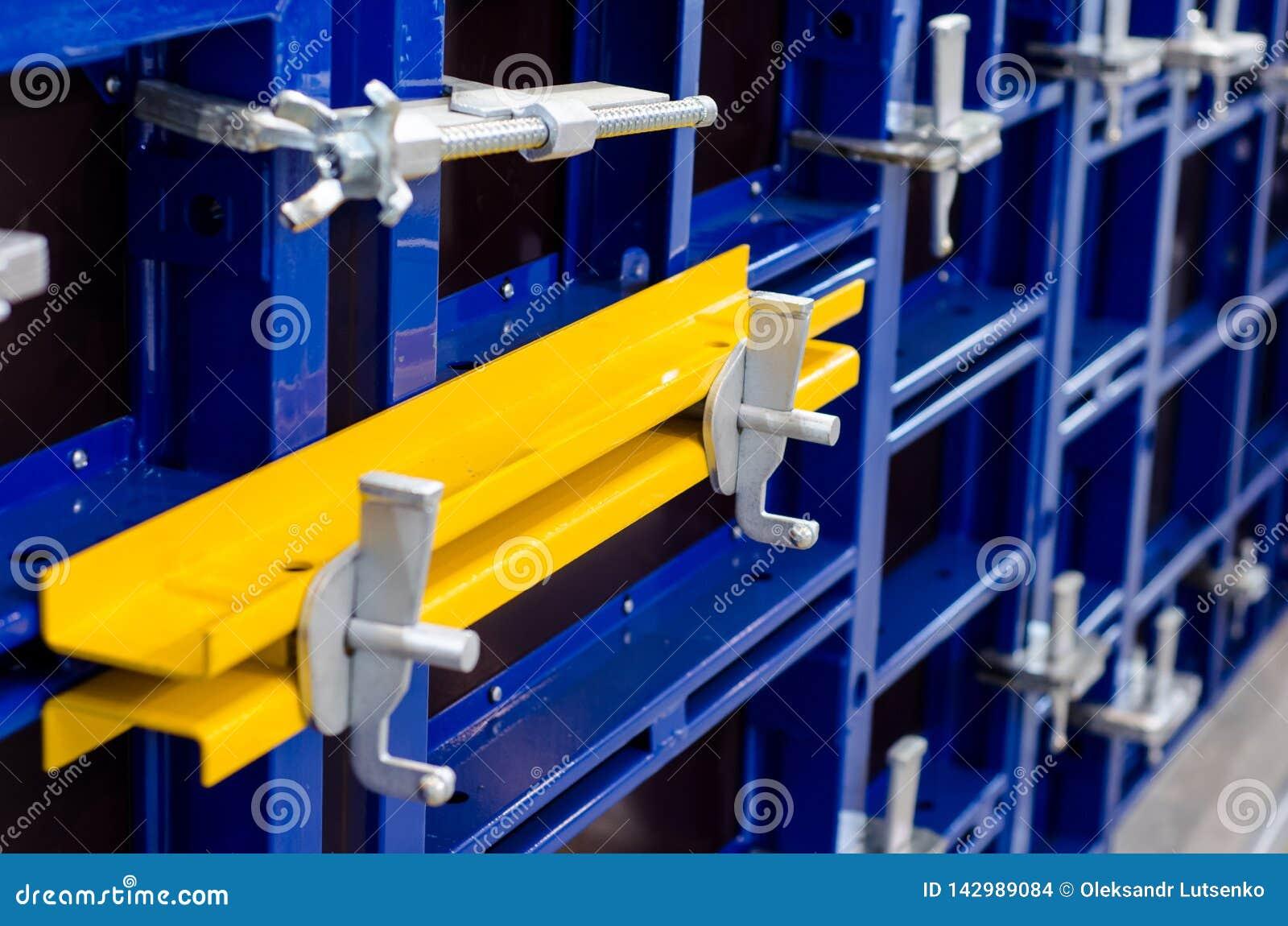 Close-up Of Modular Steel Frame Formwork Stock Photo - Image