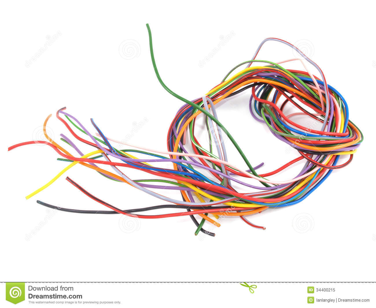 close up of multicoloured electrical wire royalty free stock photo image 34400215. Black Bedroom Furniture Sets. Home Design Ideas
