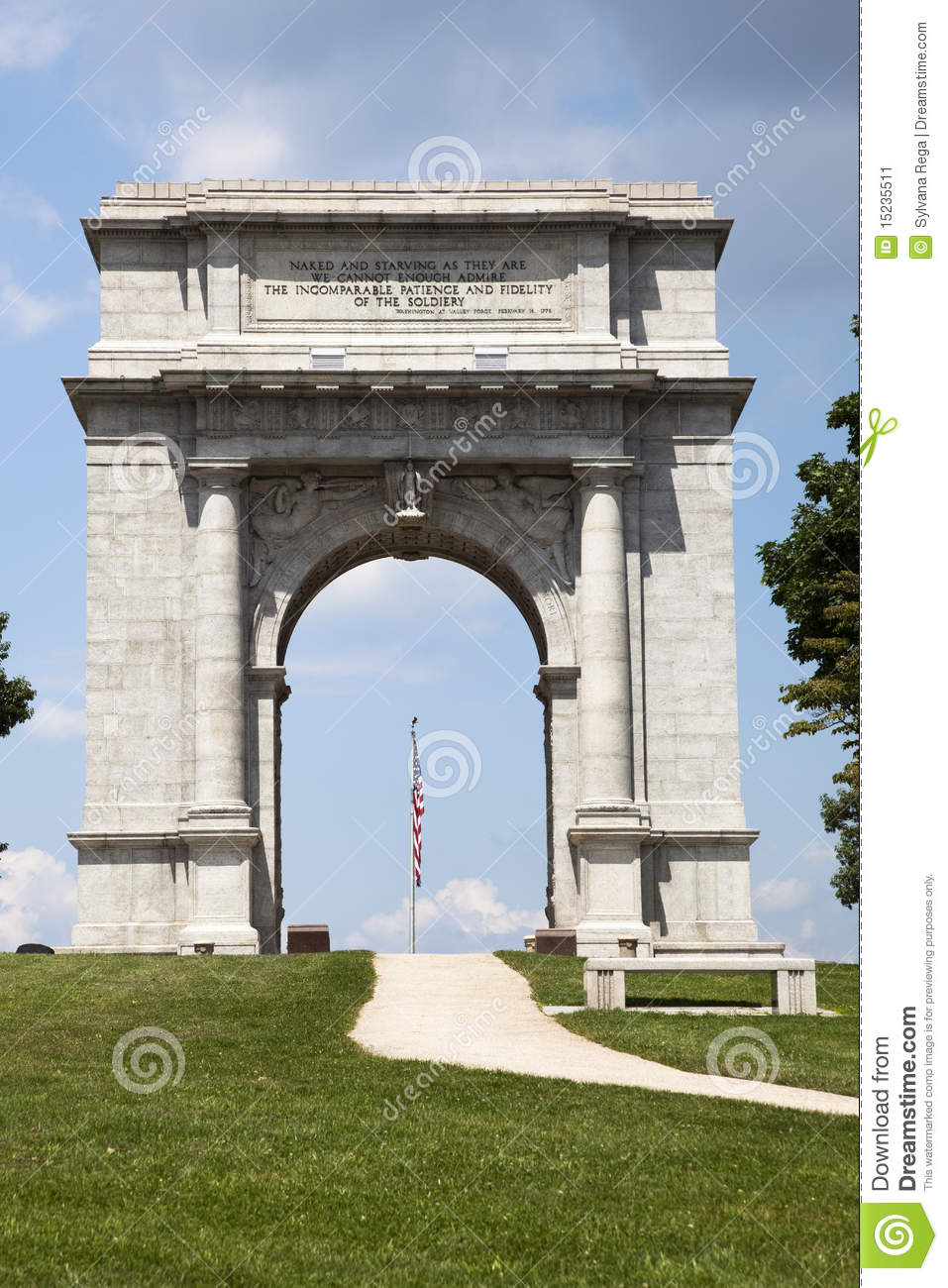 Close Up Of National Memorial Arch At Vally Forge Stock Image Image 15235511