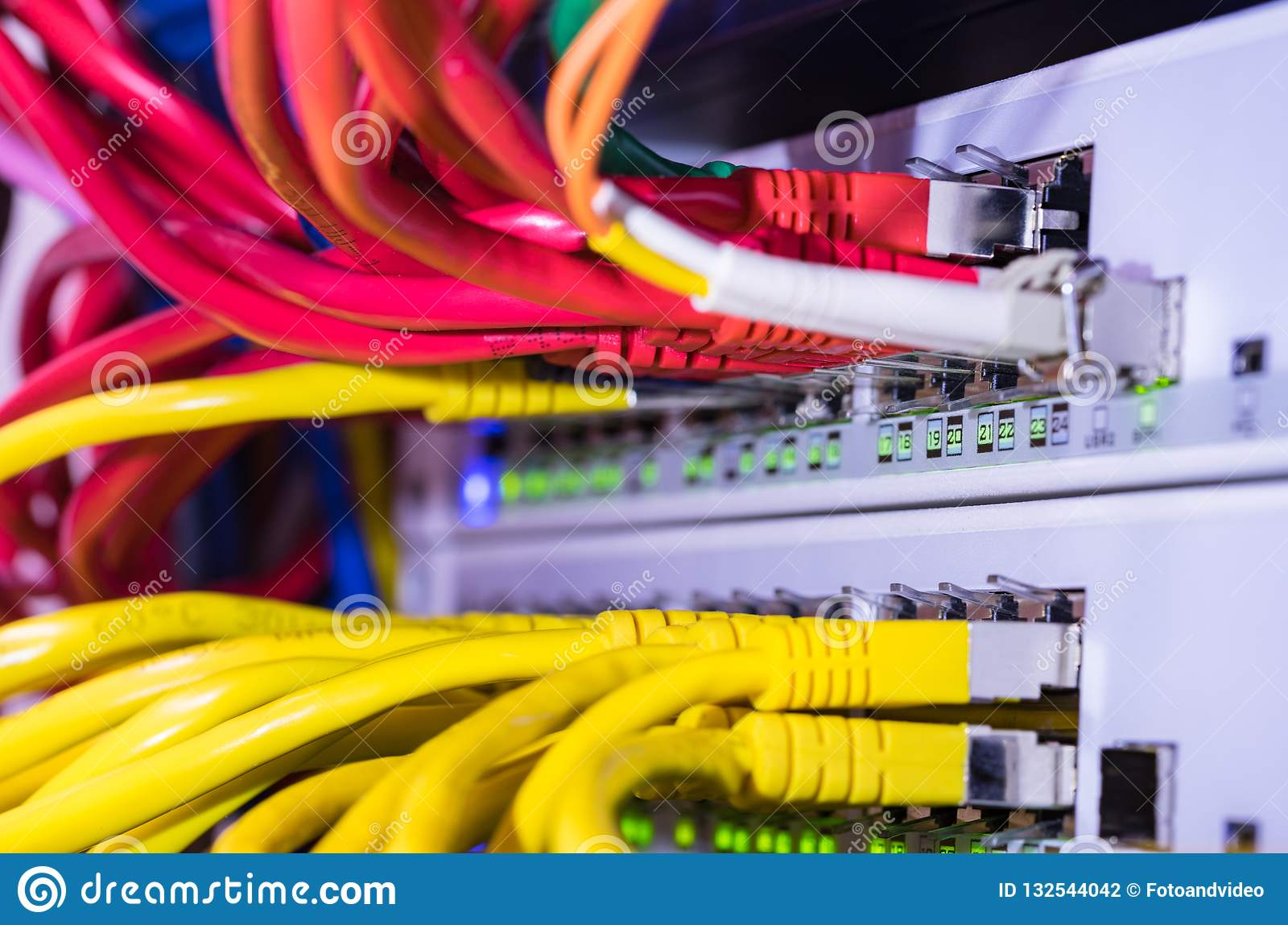 computer server network hardware ethernet hub stock photo image