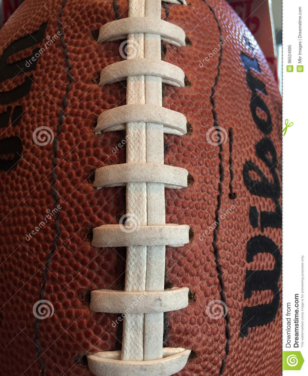 Close Up Of A NFL Football