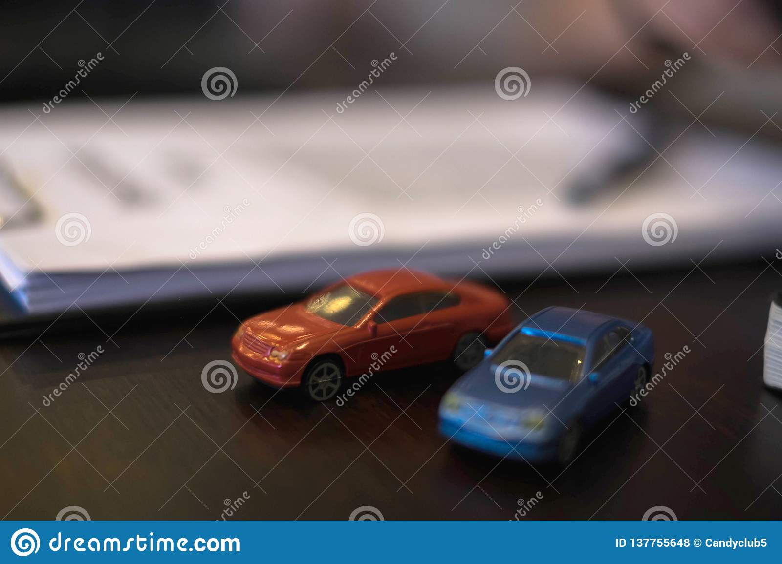 Close Up Object Insurance Car Concept  Insurance Car With