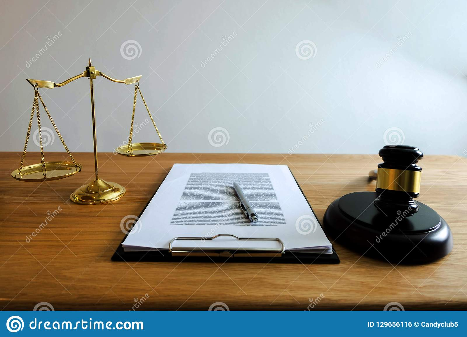 Close up object law concept. Judge gavel with justice lawyers a