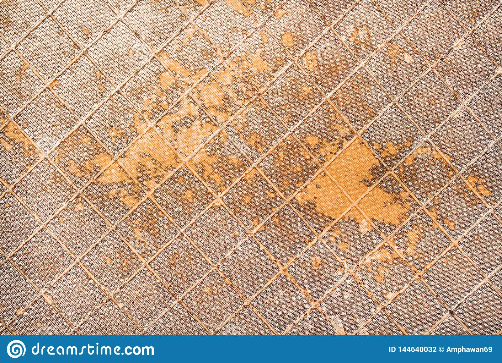 Old artificial gold leather texture for background