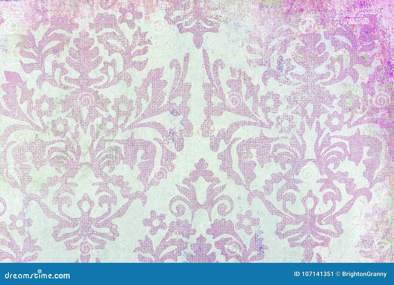 Damask print pattern